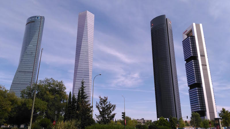 Zona financiera de Madrid. Business area