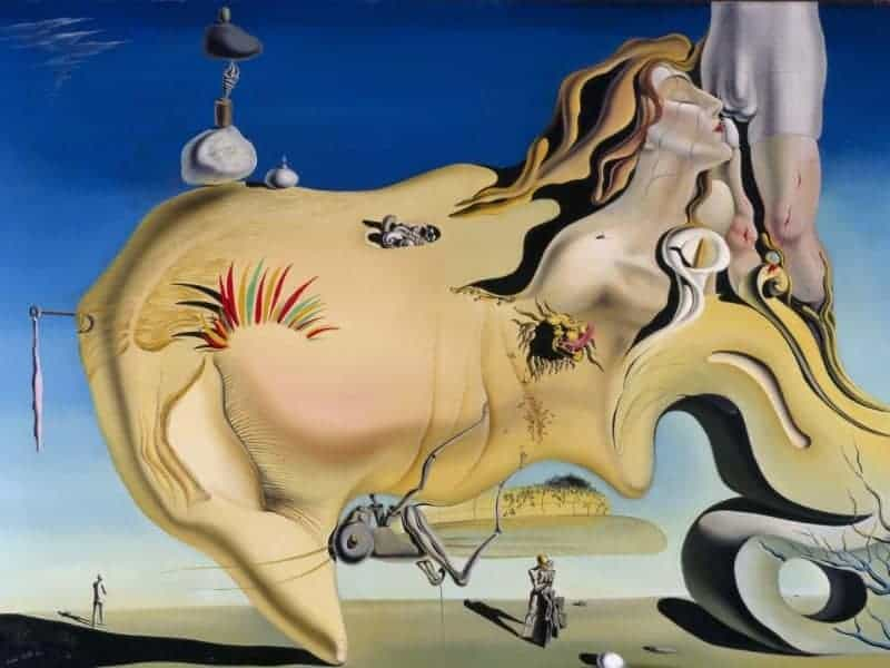 Cuadro de Dalí el Gran Masturbador