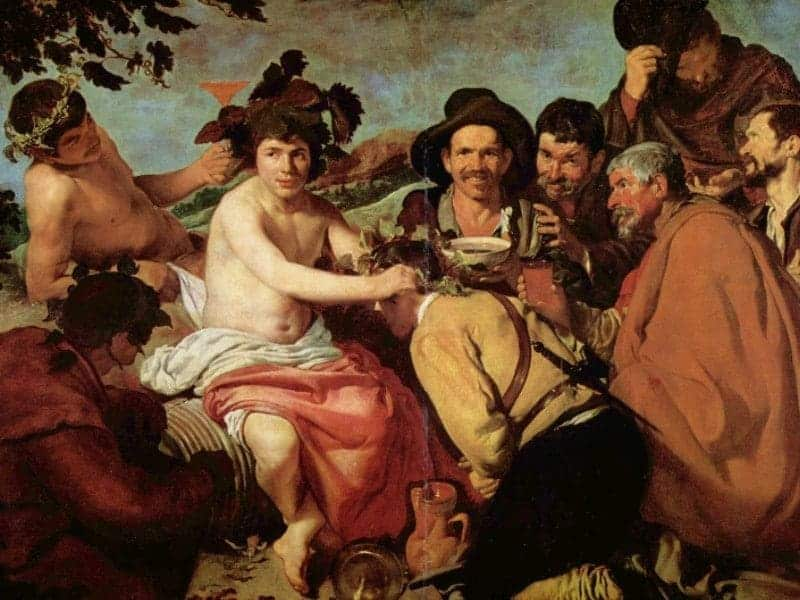 The Feast of Bacchus of Velazquez